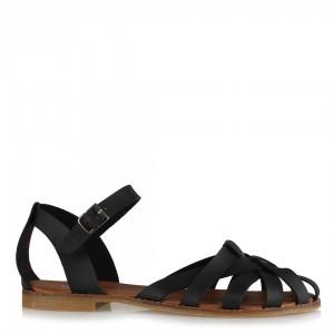 Siyah Kafes Model Sandalet