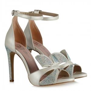 Nikah Ayakkabısı Taşlı Bilekten Kemerli