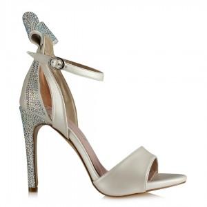 Gelinlik Ayakkabısı Arkası Fiyonk Taşlı