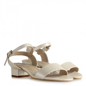Gelinlik Ayakkabısı Sandalet Az Topuklu