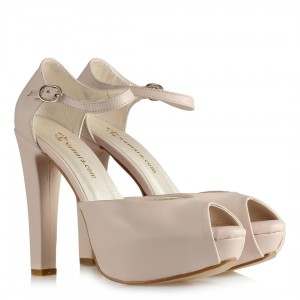 Nikah Ayakkabısı Pudra Şık Modeller