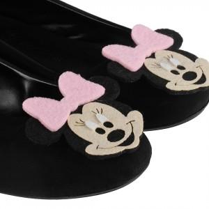 Babet Ayakkabı Siyah Pembe Mickey