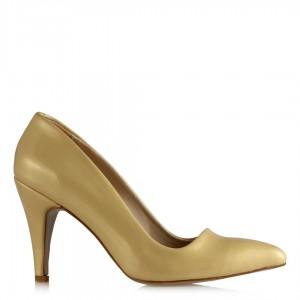 Stiletto Ayakkabı Sarı Rugan