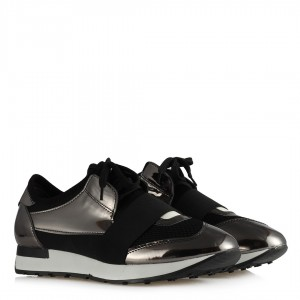 Spor Ayakkabı Siyah Platin Rengi