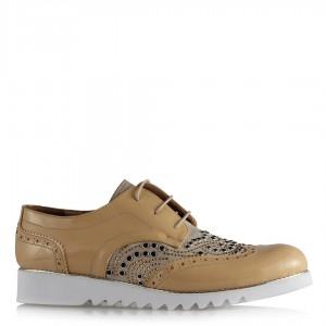 Oxford Ayakkabı Camel Taşlı