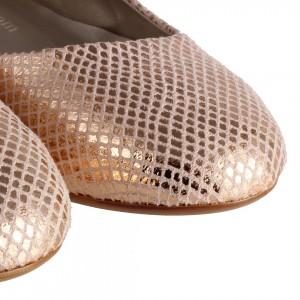 Babet Yılan Desenli Babet Ayakkabı