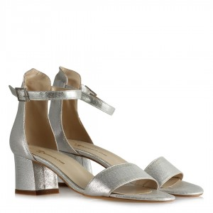 Topuklu Ayakkabı Sandalet Lame Yaldızlı