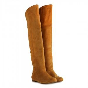 Binici Model Uzun Çizme Hardal Rengi