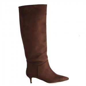Kısa Topuklu Çizme Kahverengi