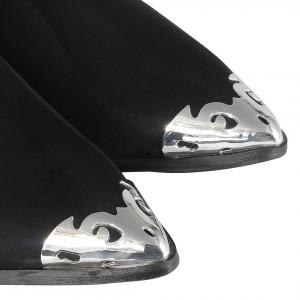 Western Model Metal Burunlu Siyah Bayan Bot
