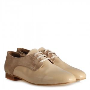 Bağcıklı Düz Ayakkabı Ten Rugan