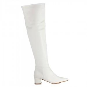 Beyaz Renk Dizüstü Bayan Çizme