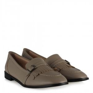 Hakiki Deri Vizon Püsküllü Loafer Ayakkabı