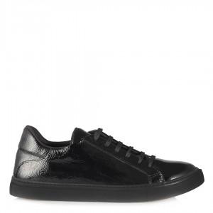 Vans Spor Ayakkabı Bağcıklı Siyah Kırışık Rugan