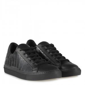 Siyah Crocodile Desenli Spor Ayakkabı