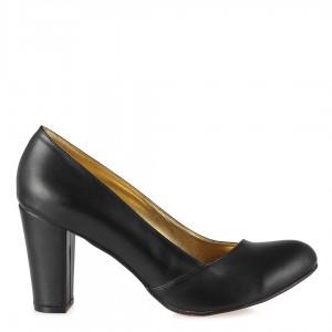 Siyah Çapraz Topuklu Ayakkabı