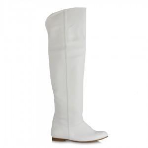 Dizüstü Binici Kadın Çizme Beyaz