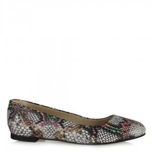 Yılan Desenli Babet Ayakkabı