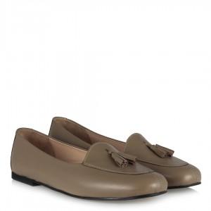 Deri Ayakkabı Loafer Vizon Rengi