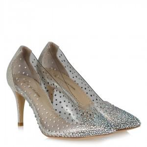 Şeffaf Ayakkabı Taşlı Şık Model