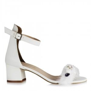 Gelinlik Ayakkabısı Midye Tasarım Tüylü
