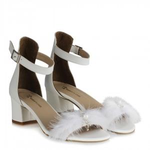 Gelinlik Ayakkabısı Topuklu Sandalet Tasarım