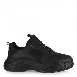 Bayan Spor Ayakkabı Siyah Bağcıklı