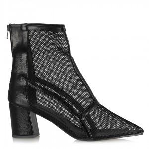 Fileli Siyah Sandalet Sivri Yazlık Bot