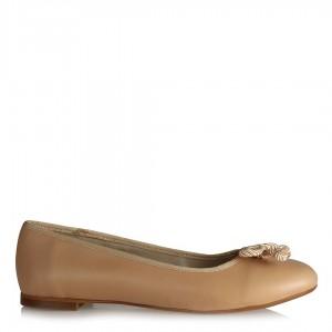 Babet Ayakkabı Vizon Rengi Fiyonklu