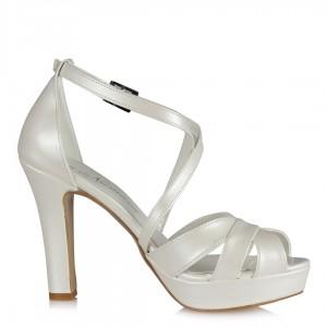 Gelinlik Ayakkabısı Çapraz Kemer