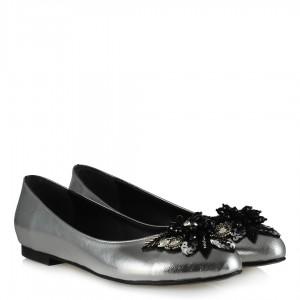 Babet Ayakkabı Melek Tokalı Gümüş Rengi
