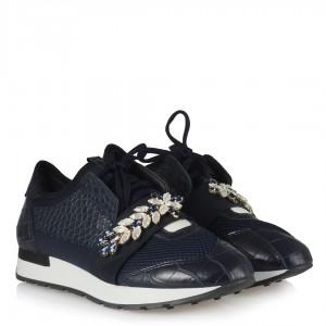 Spor Ayakkabı Lacivert Taşlı