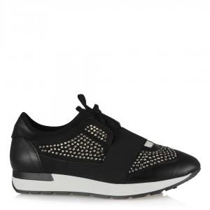Siyah Taşlı Spor Bayan Ayakkabı