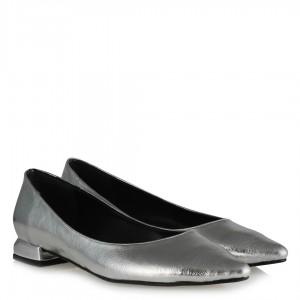 Gümüş Rengi Babet Ayakkabı