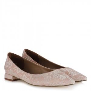 Pudra Dantelli Babet Ayakkabı