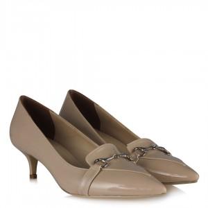 Ten Rugan Zincirli Sivri Stiletto Ayakkabı