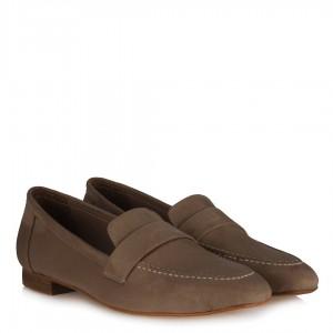 Loafer Düz Ayakkabı Vizon Süet