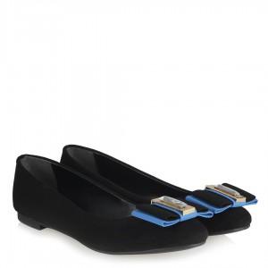 Mavi Tokalı Babet Ayakkabı