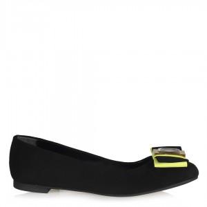 Babet Ayakkabı Neon Sarı Tokalı