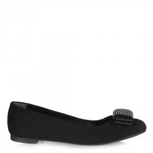 Babet Ayakkabı Siyah Taşlı Model