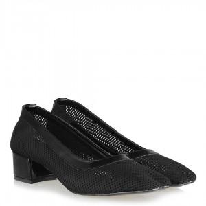 Topuklu Ayakkabı Siyah Fileli