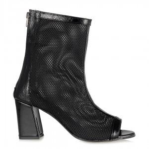 Yazlık Bot Uzun Fileli Siyah Sandalet