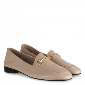 Ten Hakiki Deri Zincirli Loafer Ayakkabı