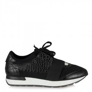 Spor Ayakkabı Siyah Crocodile Desenli