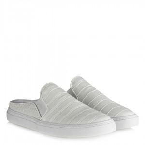 Beyaz Vans Ayakkabı Terlik Crocodile