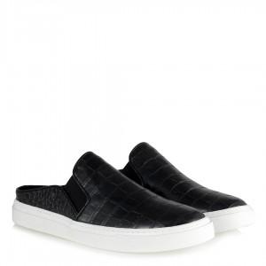 Siyah Crocodile Vans Ayakkabı Terlik