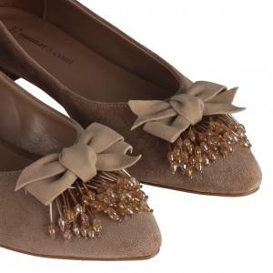 Vizon Süet Fiyonk Püskül Tokalı Babet Ayakkabı
