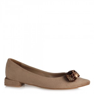 Vizon Tokalı Babet Ayakkabı