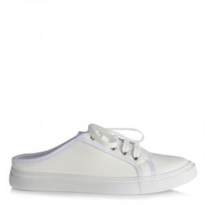 Beyaz Bağcıklı Spor Ayakkabı Terlik Modeli