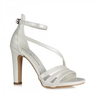 Gelin Ayakkabısı Bantlı Kırık Beyaz Model
